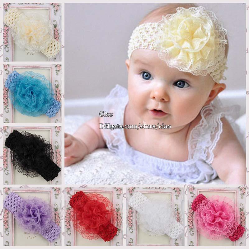 Hair Flowers Crochet Headbands