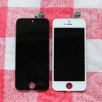 For Apple iPhone   Original LCD Display Screen Digitizer Assembly Replacement Parts for Iphone 5 5G Black White Free DHL