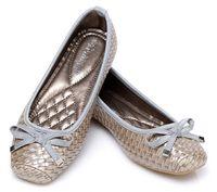 Wholesale Ladies Casual Flats Shoes Summer Flats Leisure Shoes Rubber Sole Colors Black Blue Silver Sizes Bow Knot