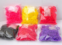 Link, Chain Other Children's Best Quality Christmas gift 12 Colors Loom Bands Looms Colar Rubber Bands Loom Bracelets ( 600pcs bands + 24 pcs S C clips+1 hook)