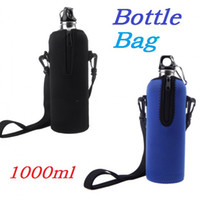 Wholesale High Quality ML Bottle Insulator Outdoor Zipper Removable Straps Neoprene Colors Dropshipping