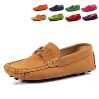 Slip-On moccasin shoes - 2014 new fashion unisex children s lazy shoes boys suede gommini loafers girls shoes moccasins kids shoes