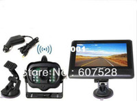 Cheap Wholesale-2.4G Wireless License Back Up Reverse Car Rear View Camera 7 inch LCD Monitor Kit +Free shipping