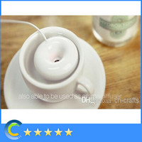 Wholesale Doughnut Donuts Portable USB Float Water Warm Mist Humidifier Convenient twist switch Air Mist Maker with retail package