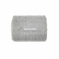 Wholesale For Roll Silver Yard Diamond Mesh Rhinestone Ribbon Crystal Wedding Wrap Multi Colors