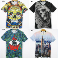 Wholesale 2015 newest style D t shirts tshirt men high quality cartoon building anima printed cotton t shirt models