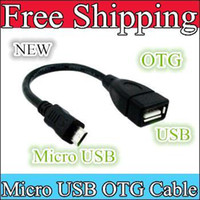 Wholesale Whole sale OTG Cable Micro USB Mini USB B Male to A Female tablet pc China post sample a cheap Hot for Ainol