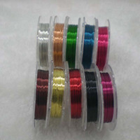 Cord & Wire Chirstmas  10rolls DIY jewelry 0.3mm Copper wire 100m 10color