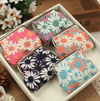 Retro flower Cloth fabric pattern coin purse Canvas key hold...