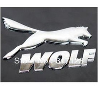 Stickers Yes 0.2 cm (10 pieces lot ) Wholesale gold silver 3D metal Chrome wolf stickers decals for car auto emblems badges bumper stickers