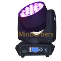 Moving Light Head Beam LED Wash Zoom avec 19pcs RGBW quad 4in1 couleur LED Pro Stage Lighting Pour DJ Disco Club Discothèque Fête