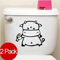 Graphic vinyl PVC Animal Mix Wholesale Order 2 Pack Wash Room Toilet Roll Paper Decor Mural Wall Sticker Decal