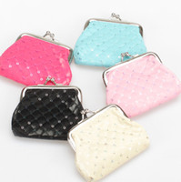 mixed style bag lining fabric - European and American style Small car line sequins coin purse PU Leather key holder wallet hasp small gifts bag clutch handbag