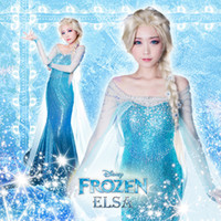 Mascot Costumes Animal Angel mascot Pre-sale Frozen Elsa Costumes for women sexy blue dress blue princess dress with high quality free shipping