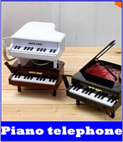 Wholesale the latest piano telephone fashionable telephone with LED lights has a rope telephone creative gifts
