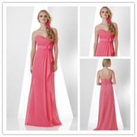 2015 New Collection Sweetheart Bridesmaid Dress Long Chiffon...