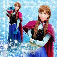 Mascot Costumes Animal Angel mascot Deluxe Frozen Frozen Princess Anna Costume Newest Frozen Anna Costume Women Dress
