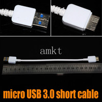 For Samsung   Short Micro USB 3.0 Cable 22CM Data Sync Charger Code for Samsung Galaxy Note 3 N9000 N9005 N9006 N9002 N9008 N9009