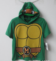 Wholesale Boys hoodie sweatshirt Ninja Turtles pattern t shirt for summer kids cotton fashion hooded clothing jacket Y Y