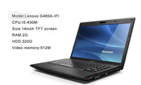 Wholesale Laptop PC Lenovo G460A IFI Intel I5 inch Laptop PC GB RAM GB HDD Computers Black Color