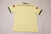 Wholesale AC MILAN Blank away Yellow Thai Quality Soccer Jersey For Men Football Club Jerseys Customized soccer jerseys