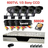 Box/Body Guangdong China (Mainland) Yes Wholesale-High Resolution 600TVL Waterproof 84IR CCTV Camera Security System 4CH H.264 DVR