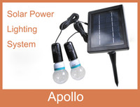 Wholesale Solar Power System Portable Small Household Solar Power Lighting System W Blub Globe Lighting System