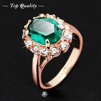 Wholesale S Women s Fashion Wedding Cocktail Party Ring Engagement Ring Crystal Jewelry Gift
