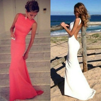 2015 New Collection Beteau Beach Wedding Dresses Satin Merma...