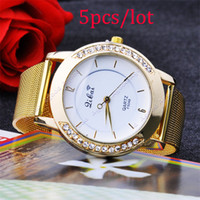 Wholesale 5pcs new Classic Watch Women s Wrist Quartz Watch Dress Watch Gold Color SV000537