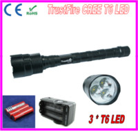 Wholesale TrustFire LED Flashlight CREE T6 LED Torch Light Lumen Mode Lighting For Tactical Bicycle Self Defense Battery Charger