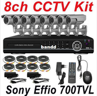 Box/Body Yes SecureU Wholesale-Free shipping best top selling 8ch cctv kit whole set cctv system installation sony 700TVL zoom security camera H.264 8ch HD DVR