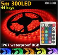 Wholesale LED Strip Waterproof RGB V M leds m Tiras LED Light A Power Supply Adapter keys Control Controller