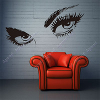 Wholesale 2014 new fashion Black Creative SEXY EYES Wall Art Decal Sticker Removable Mural PVC Home Decor Gift SV000410