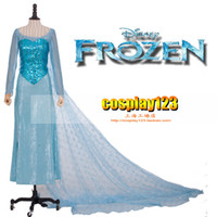 Mascot Costumes Animal Angel mascot Fashion style women girl Movie Frozen snow queen elsa costume formal dress clothes free shipping