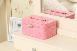Wholesale - New leather jewelry box six colors,Suitable for all kinds of gifts, 10pcs lot drop shipping.