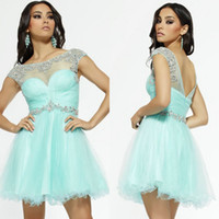2015 New Collection Beteau Homecoming Dresses Short Sleeve M...