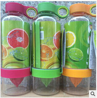 Wholesale Drop shipping Citrus Zinger Fruit Infusion Water Bottle Citrus Zinger Water Bottle with Citrus Juicer Lemon cup