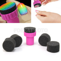 Wholesale 10pcs Hot Sale Magic Nail Art Sponges with Stamper Polish Stamping Manicure Tool Set