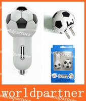 Wholesale Football Style A HomeTravel Charger US Plug A Mini USB Car Charger for Iphone S S Samsung Galaxy S4 S5 Note Xperia Z2 LG HTC M8