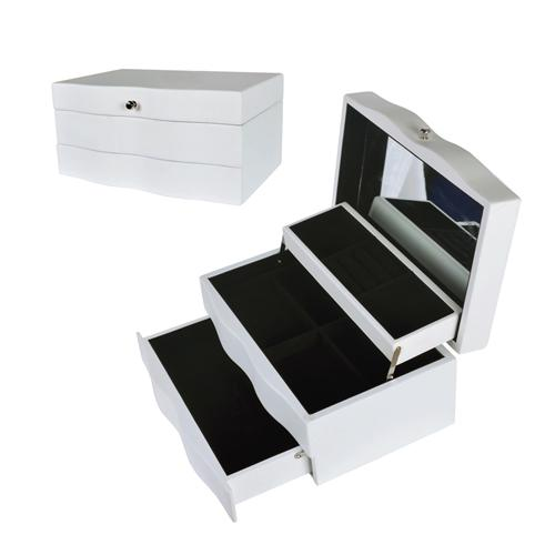 Mirrored Jewelry Box Makeup Organizer Bedroom Furniture Wooden Jewelry Storage Case For Earrings Necklaces. 2017 Mirrored Jewelry Box Makeup Organizer Bedroom Furniture