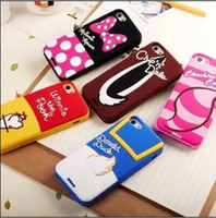 Wholesale For iphone S S Case Cute Cartoon Donald Pooh Sulley Daiey Minnie Mouse Milke Alien Soft Silicone Case For iphone S G S G