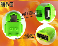 Wholesale Micro usb to USB OTG adapter for smartphone tablet pc connect to U flash mouse keyboard