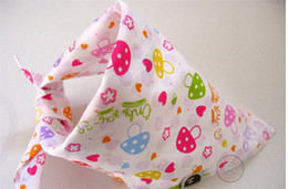 Wholesale DHL Hot Sale Baby Stay Dry Bandana Dribble Bibs Triangle Head Scarf Sling Bibs for Infant Boy Girl Bibs More style mix color mix style
