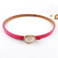 Wholesale New Women Fashion Summer Design Candy Color Imitation Crystal Decoration PU Leather Cummerbund Belts For Women