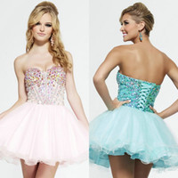 2015 New Arrival Sweetheart Homecoming Dresses Short Mini Cr...