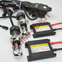 Wholesale 5sets v DC w Hid xenon Kit h4 Bixenon kit hi lo Beam Slim H4 k k k k k k bi xenon kit