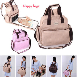 Wholesale Baby nappy diapers bags multifunctional big designs mother bags backpack messenger women travel bags toddler care products