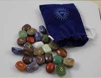 Wholesale hot sell divining rune stones set semi precious stones high quality