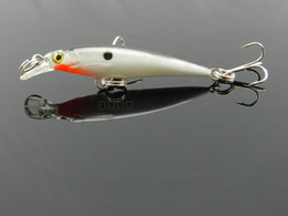 New 2 hooks Minnow Fishing hard bait Lures fishing tackle,hook lures 5CM 2.1G Japan hook 8pcs free shipping